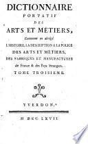 Dictionnaire portatif des arts et métiers