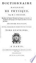 Dictionnaire raisonné de physique. 2 tom. [and] Planches. 6 tom. [and] Planches