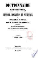 Dictionnaire statistique du département du Cantal