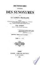 Dictionnaire universel des synonymes de la langue Française ... Quatrième édition revue et corrigée