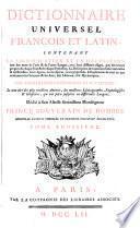 Dictionnaire Universel Francois Et Latin