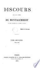 Discours de M. le comte de Montalembert, 2