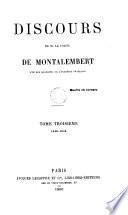Discours de M. le comte de Montalembert, 3