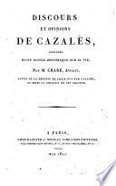 Discours et opinions de Cazalès, précédés d'une notice historique sur sa vie par M. Chare, avocat; suivi de la défende de Louis 16. par Cazalès et ornés du portrait de cet orateur