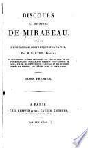 Discours et opinions de Mirabeau