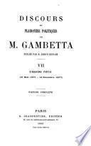 Discours et plaidoyers politiques de M. Gambetta