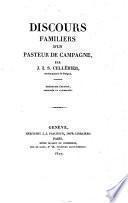Discours familiers d'un Pasteur de campagne