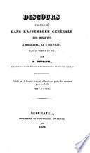 Discours prononcé dans l'assemblée générale des missions à Neuchâtel, le 2 mai 1834, dans le temple du bas