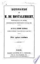Discours prononcés dans les séances des 22 et 23 mai 1850