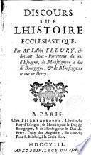 Discours sur l ́Histoire Ecclesiastique