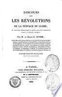 Discours sur les révolutions de la surface du globe