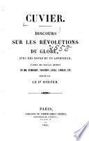 Discours sur les révolutions du globe