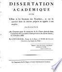 Dissertation académique sur l'état et les fonctions des prophêtes et sur la manière dont ils étoient préparés et appelés à cet emploi
