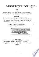 Dissertation sur l'hygiène des femmes enceintes; thèse, etc