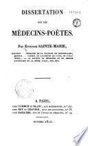 Dissertation sur les Médecins-Poètes