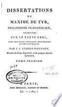 Dissertations de Maxime de Tyr
