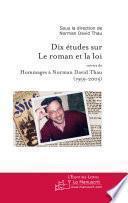 Dix études sur le roman et la loi