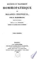 Doctrine et traitement homoeopathique des maladies chroniques