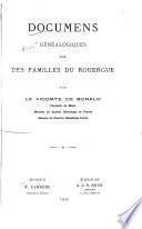 Documens généalogiques sur des familles du Rouergue