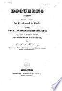 Documens inédits relatifs à l'histiore [sic] des Trente-neuf de Gand