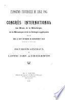 ... Documents généraux et liste des adhérents