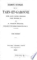 Documents historiques sur le Tarn-et-Garonne