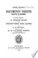 Documents inédits relatifs au Dauphiné, ed. par l'abbé Auvergne [and others].