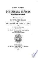 Documents inédits rélatifs au Dauphiné
