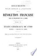 Documents pour servir à l'histoire de la Révolution française dans le département de la Somme
