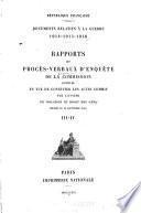 Documents relatifs à la guerre, 1914-1915-1916-