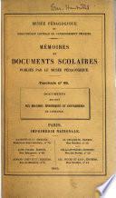 Documents relatifs aux maladies épidémiques et contagieuses de l'enfance