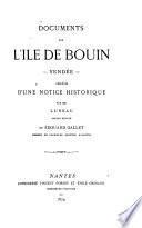 Documents sur l'île de Bouin, Vendée