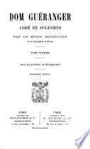 Dom Guéranger, abbé de Solesmes