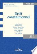 Droit constitutionnel. Édition 2015