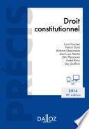 Droit constitutionnel. Édition 2016