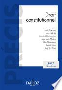 Droit constitutionnel. Édition 2017