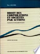 Droit Des Corporations Et Des Societes Par Actions