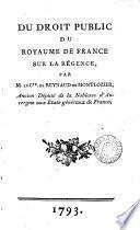 Du droit public du royaume de France sur la régence