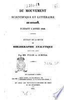 Du mouvement scientifique et littéraire en Europe, pendant l'année 1840