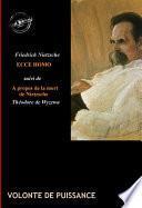 Ecce Homo Comment on devient ce que l'on est Traduit de l'allemand par Henri Albert. Préface de Daniel Halévy