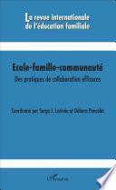 Ecole-famille-communauté