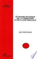 Economie politique de la corruption et de la gouvernance