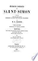 Écrits inédits de Saint-Simon