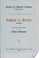 Edmond de Nevers essayiste