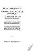 Edmond und Jules de Goncourt, die begrunder des impressionismus