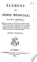 Élémens de chimie médicale