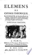 Elémens de chymie-théorique