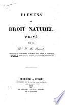 Élémens de droit naturel privé