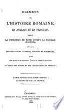 Elemens de l'histoire Romaine