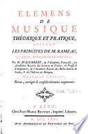 Élémens de musique théorique et pratique